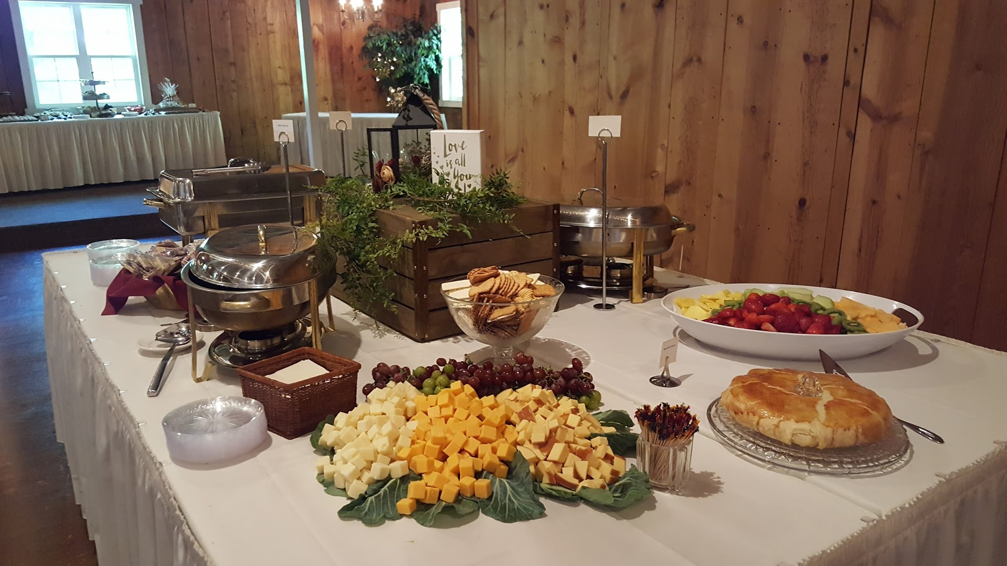 Catered food for wedding