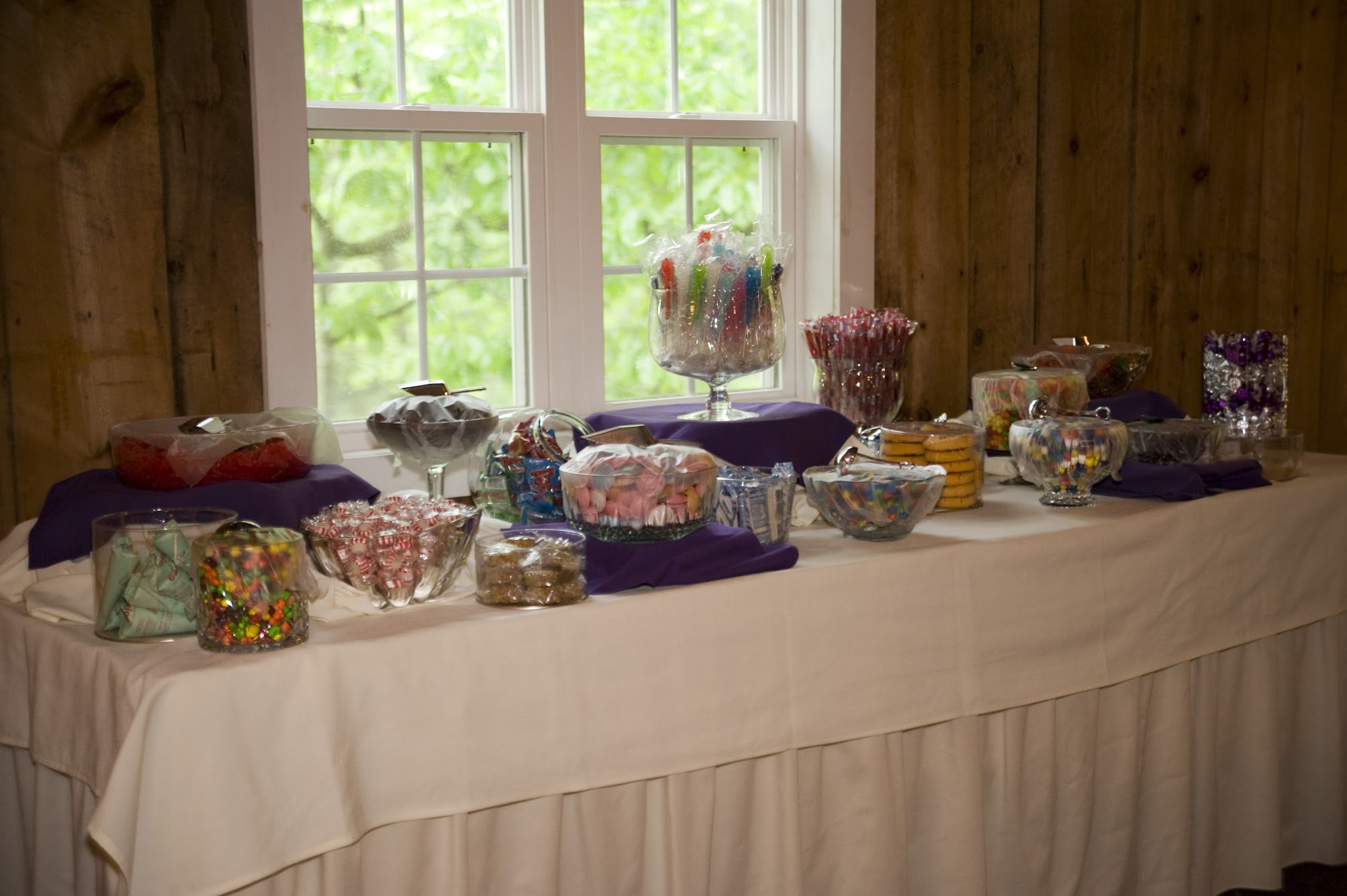 Table with candy on it