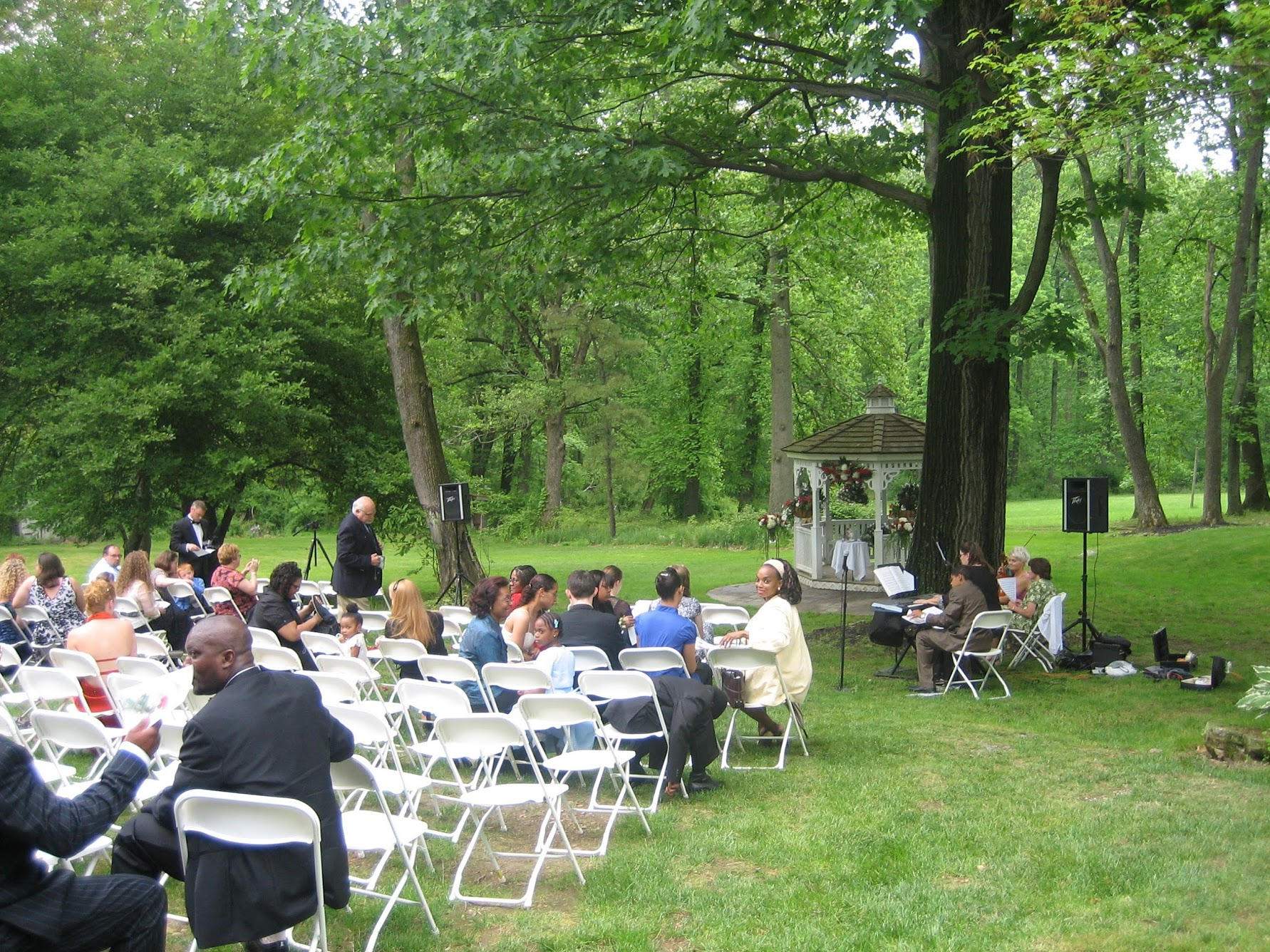 Seating area for wedding